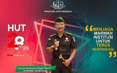 HUT Persatuan Jaksa Indonesia (PJI) Ke- 28 Tahun 2021